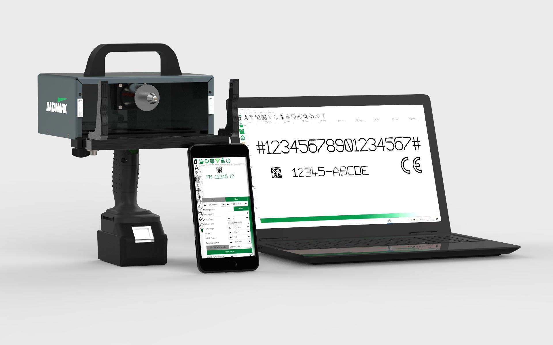 Marcadora de metal portátil Datamark MP-150