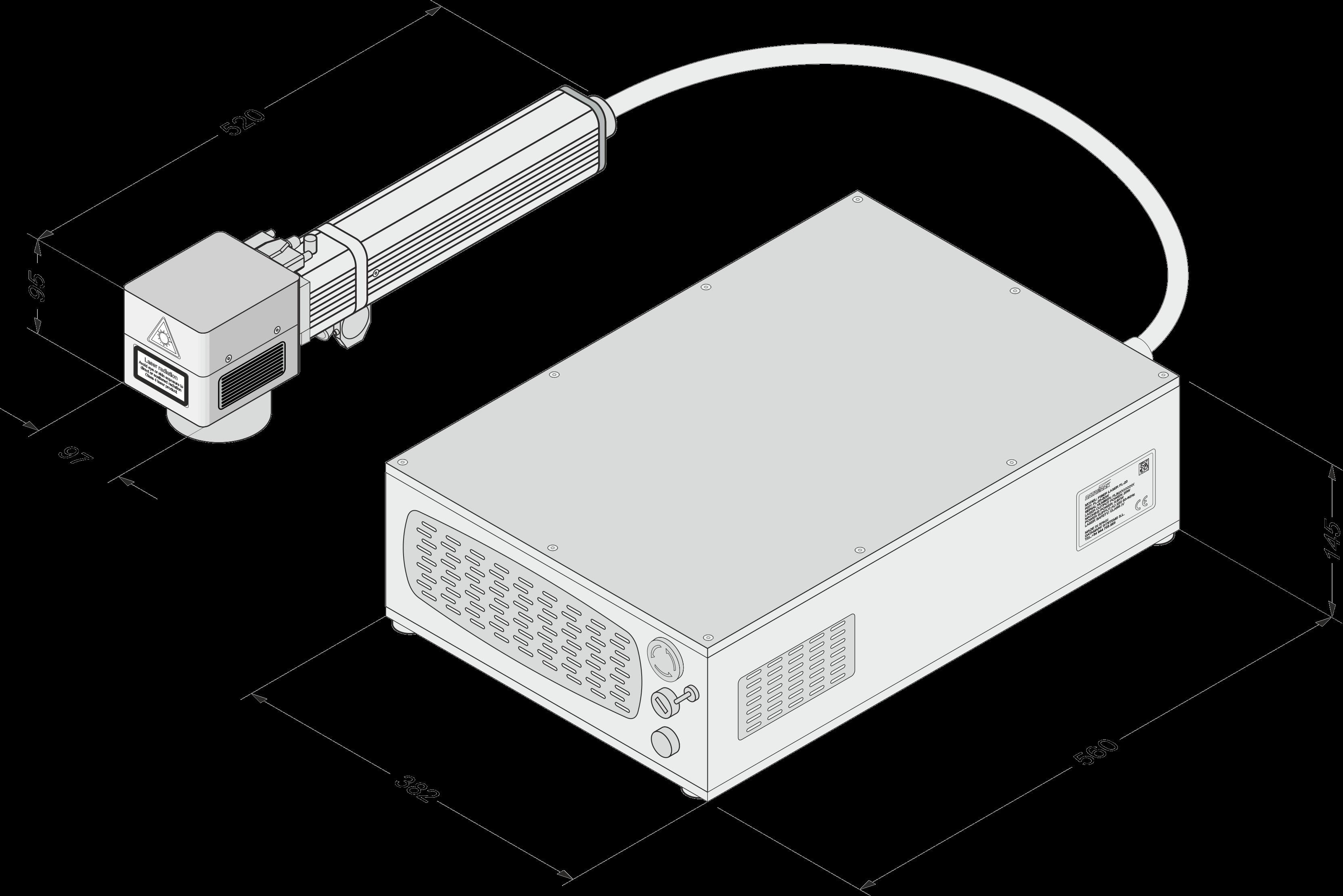 Marcadora láser Datamark FL