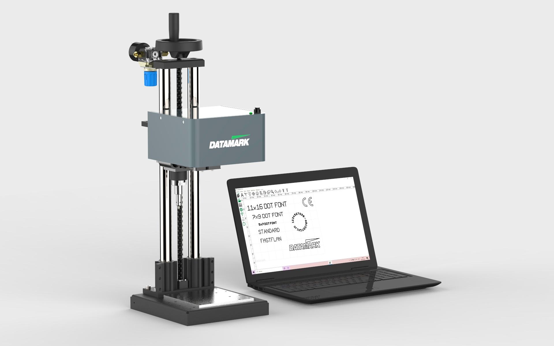 Máquina para grabado de piezas y placas metálicas