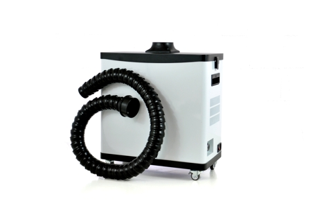 Sistema extractor de humo para marcadoras láser