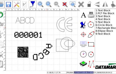 Software de marcaje del controlador táctil