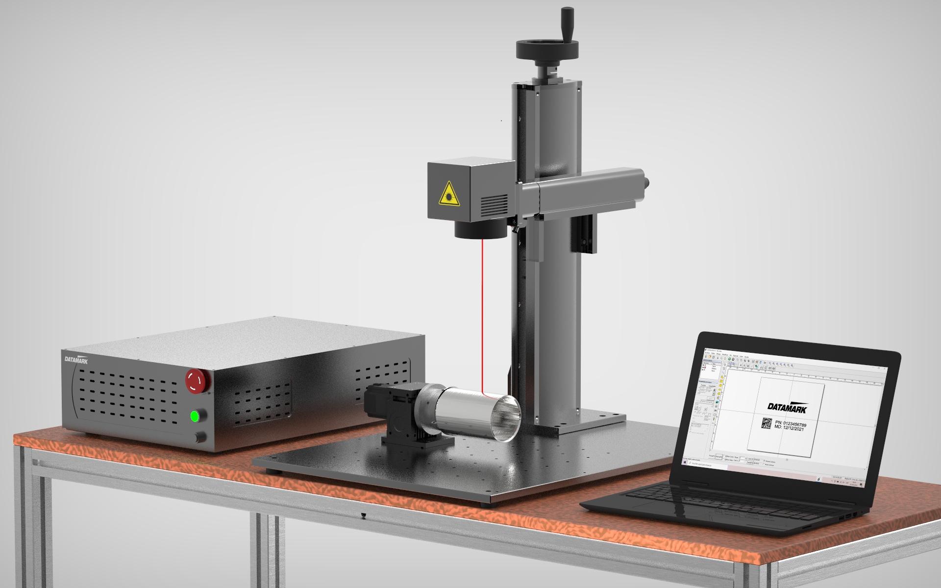 Marcadora láser para grabado de piezas de metal