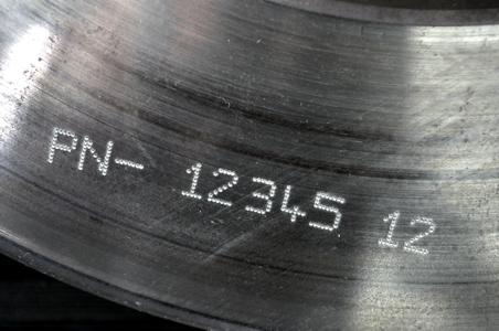 Marcaje de piezas de acero