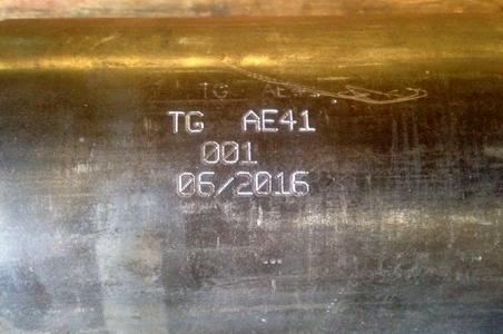 Marcaje de tubos de acero