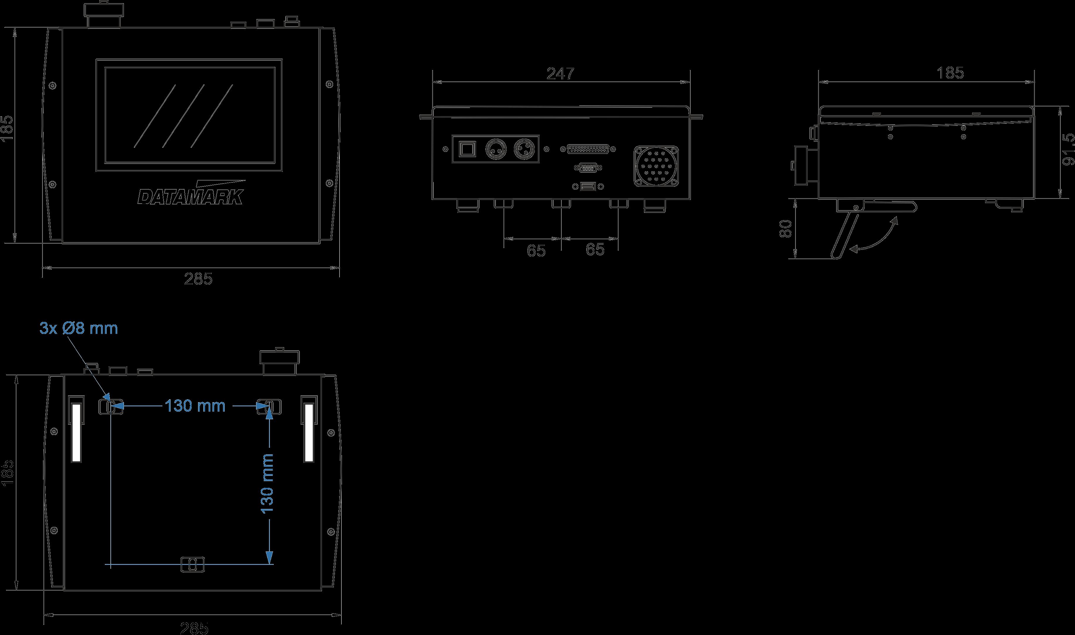 Plano del controlador táctil Datamark