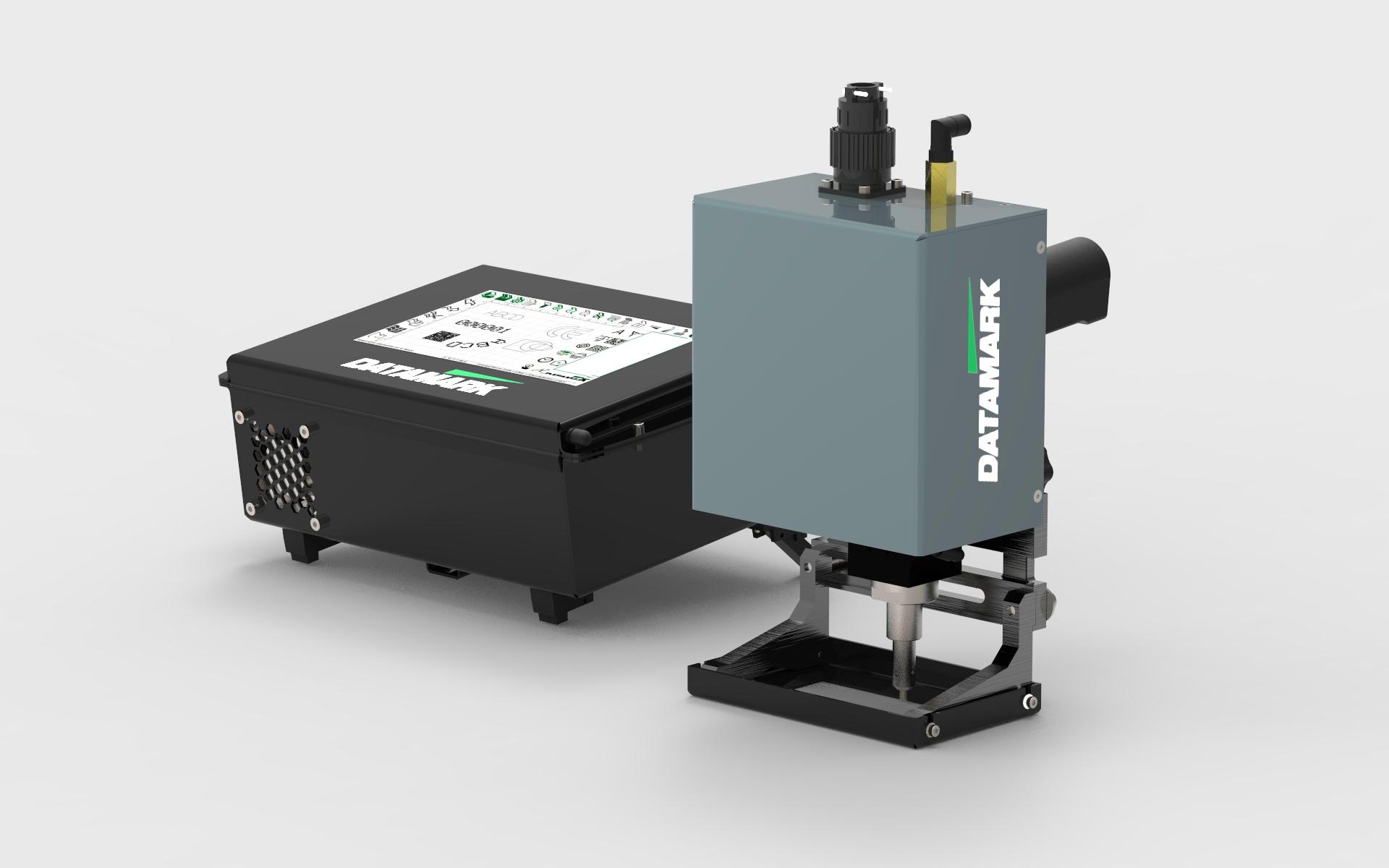 Máquina para marcaje y grabado portátil por micropercusión